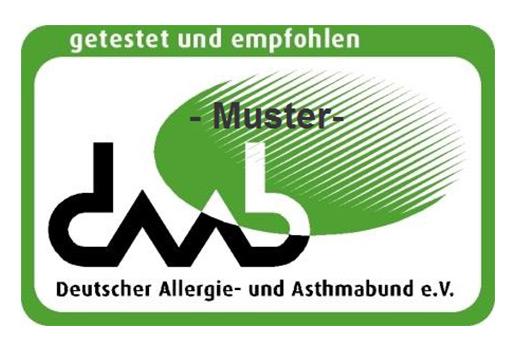 Das Siegel des Deutschen Allergie- udn Asthmabund e. V.