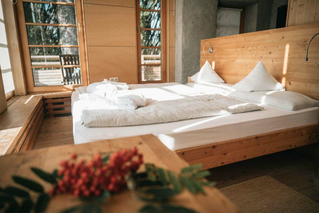 Ein Zimmer eines Bio-Hotels