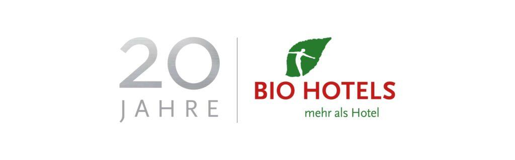 Das Logo von 20 Jahre BIO HOTELS