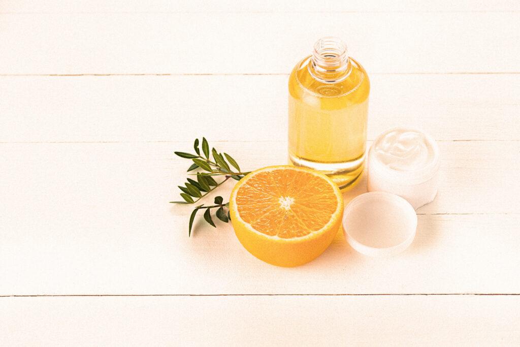 Ein ätherisches Öl aus Orange