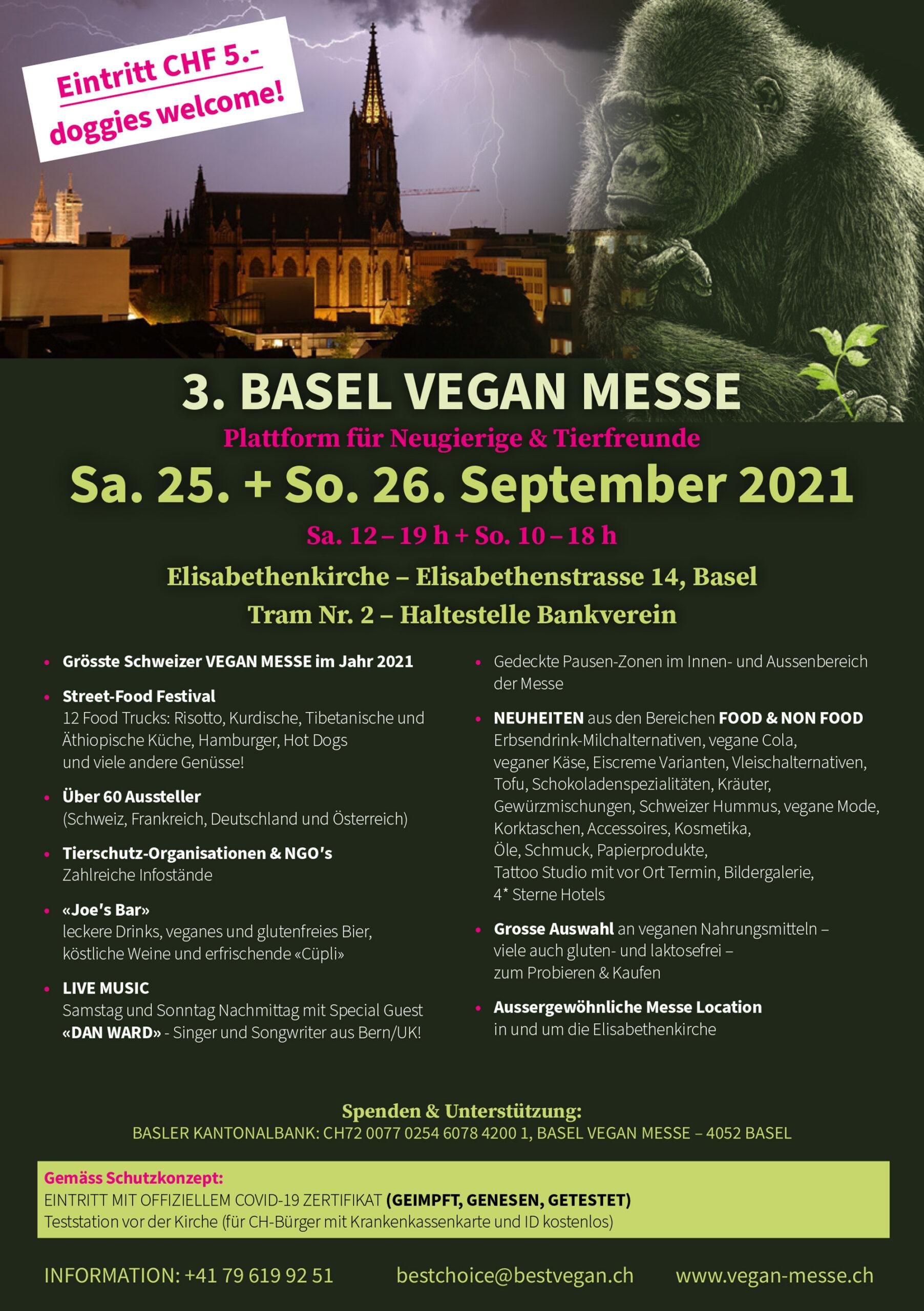 Offizielles Poster der Basel Vegan Messe
